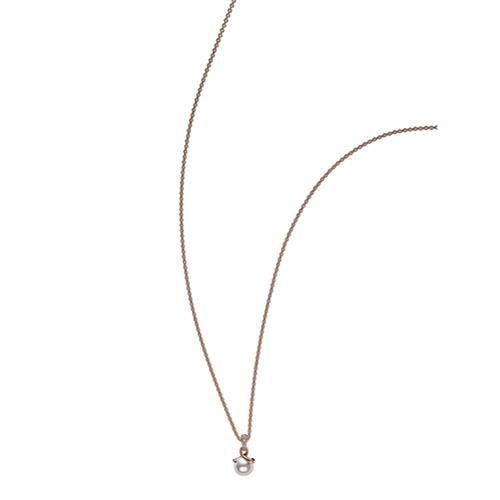 18ct Rose Gold Twist Pendant - 07-03-001