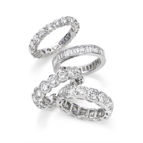 Platinum diamond rings - eternity rings