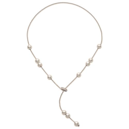 18ct White Gold Pearls in Motion Necklace - 07-06-006