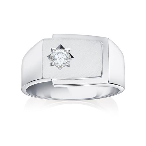 18ct & Diamond Signet Ring - 01-20-015