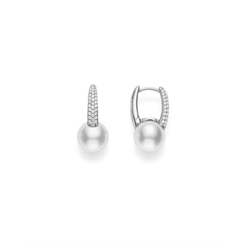 18ct White Gold Classic Pave Earrings - 07-02-028