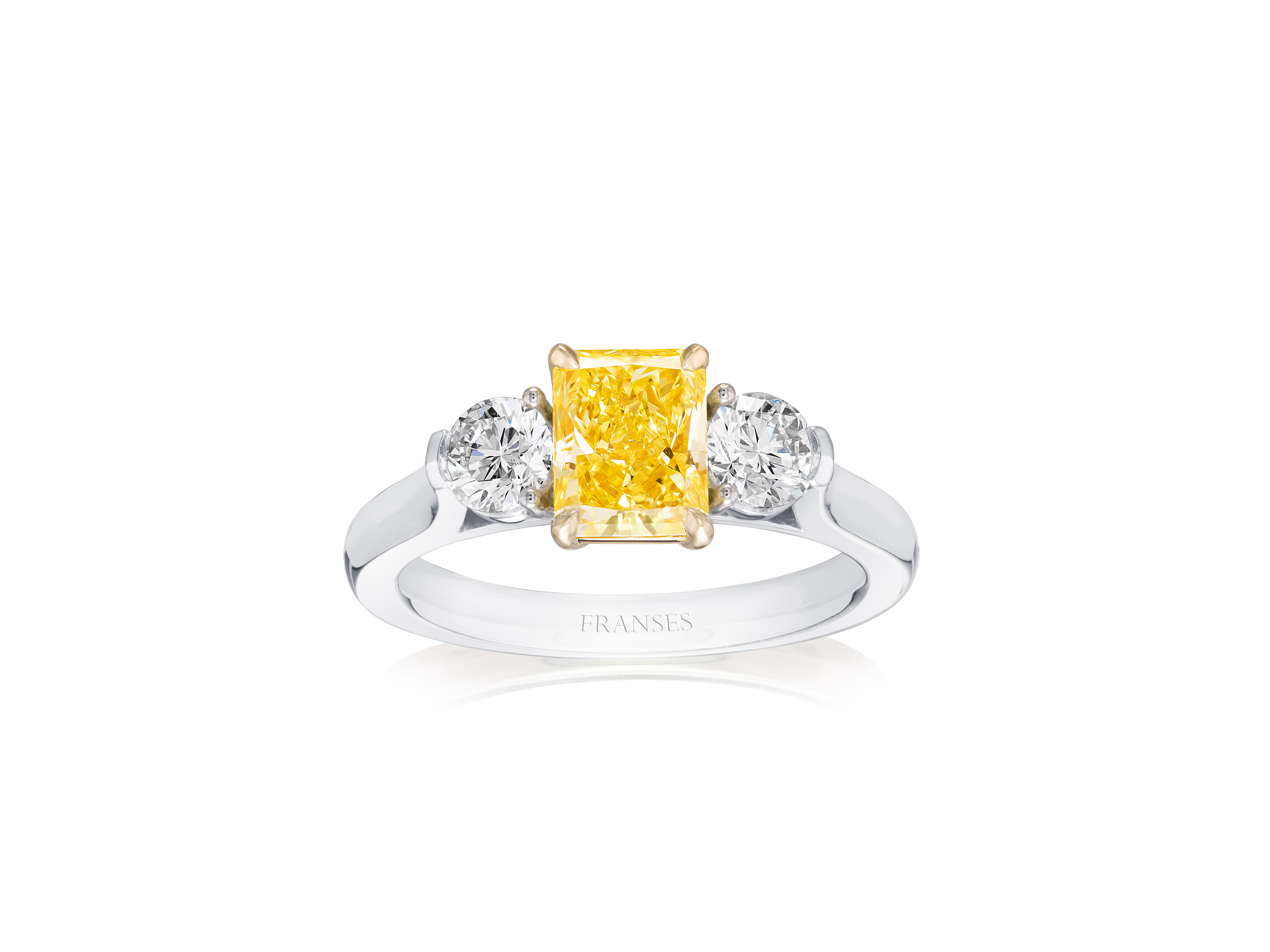 Fancy Intense Yellow Diamond Ring - HJ FYD Ring