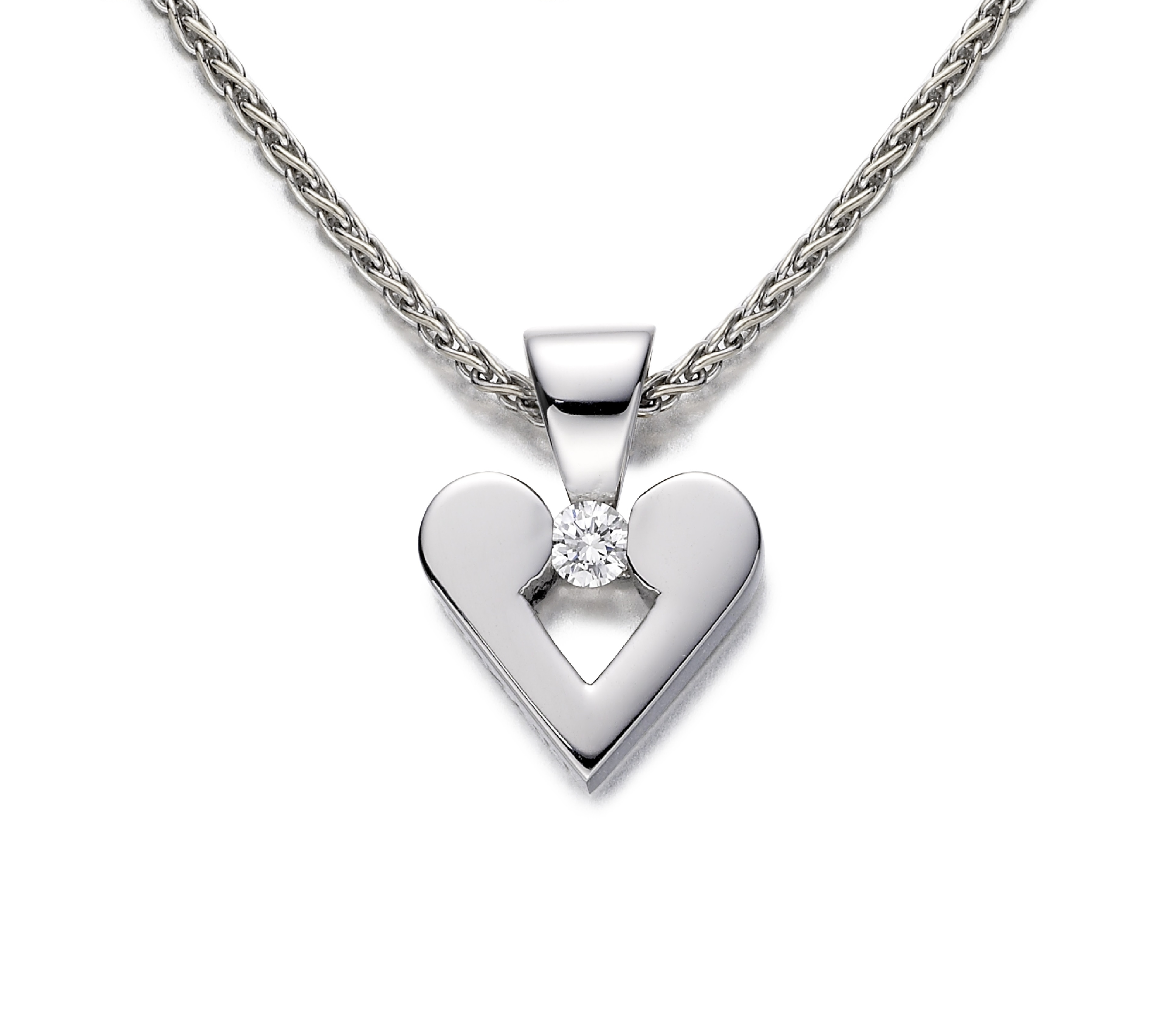 Diamond heart pendant - NA564WG