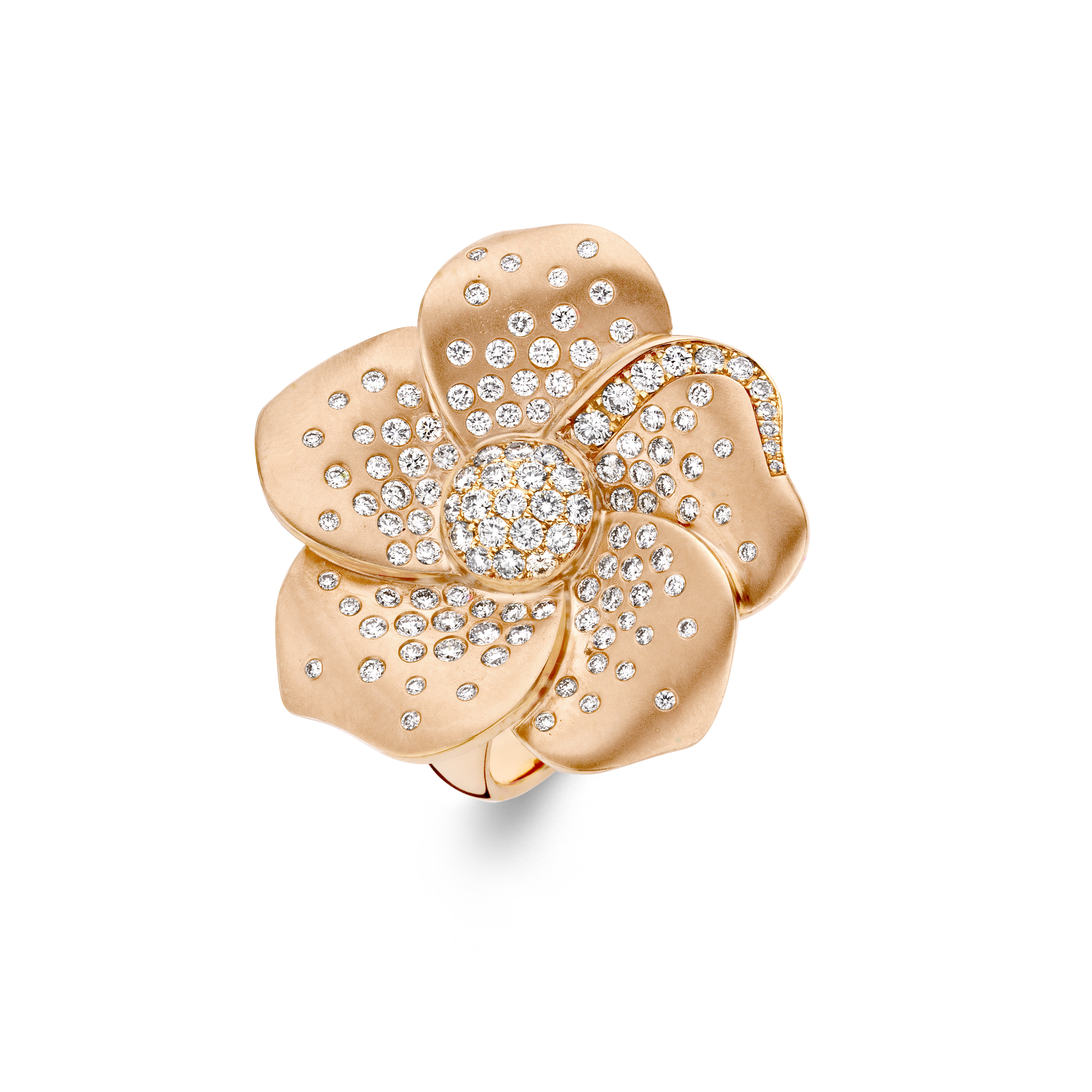 18ct Rose Gold Flower Ring