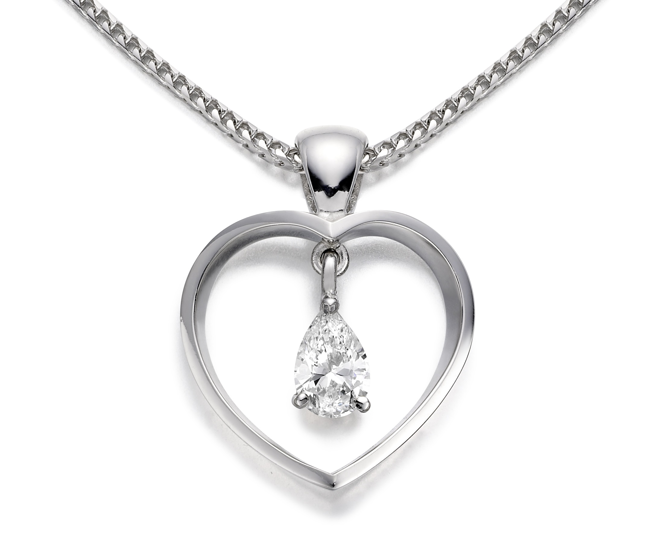 Heart-shape Diamond Pendant - 05-01-012