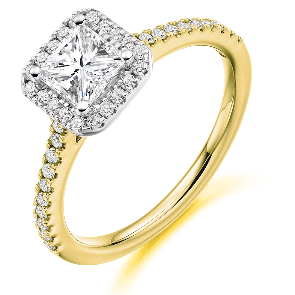 Princess Cut Halo RIng - PCHALOPT