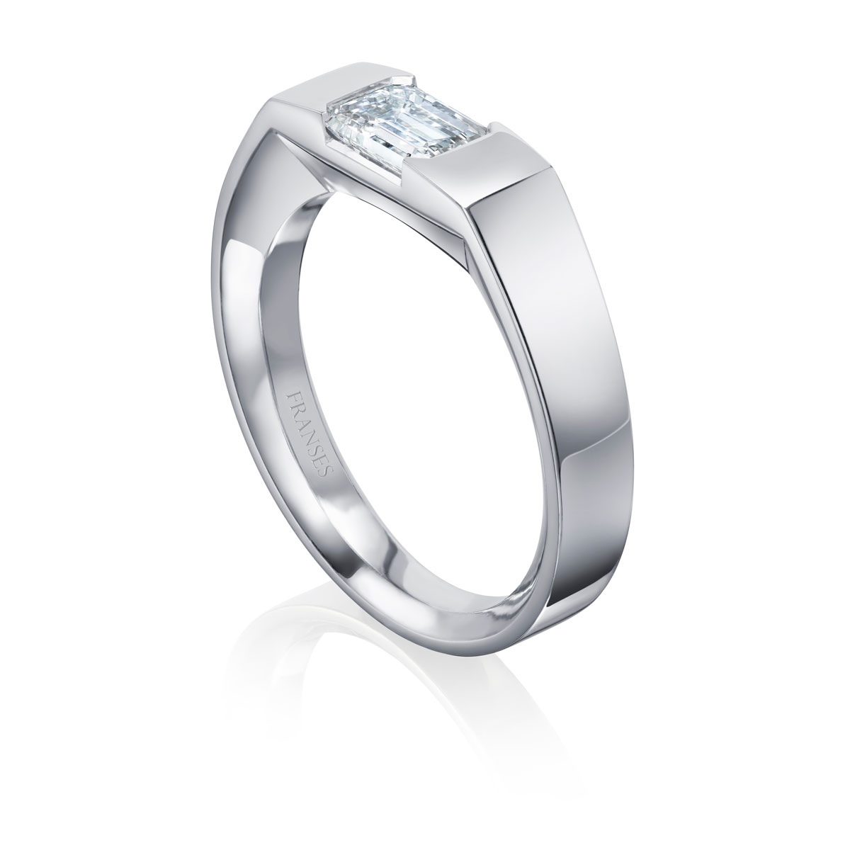 Platinum & Diamond Signet Ring