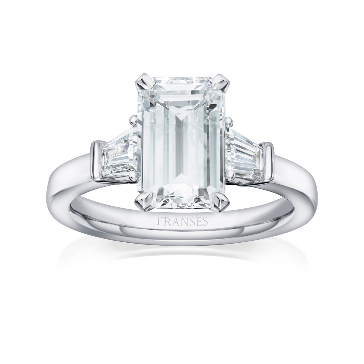 Emerald Cut Solitaire Ring - 01-01-063