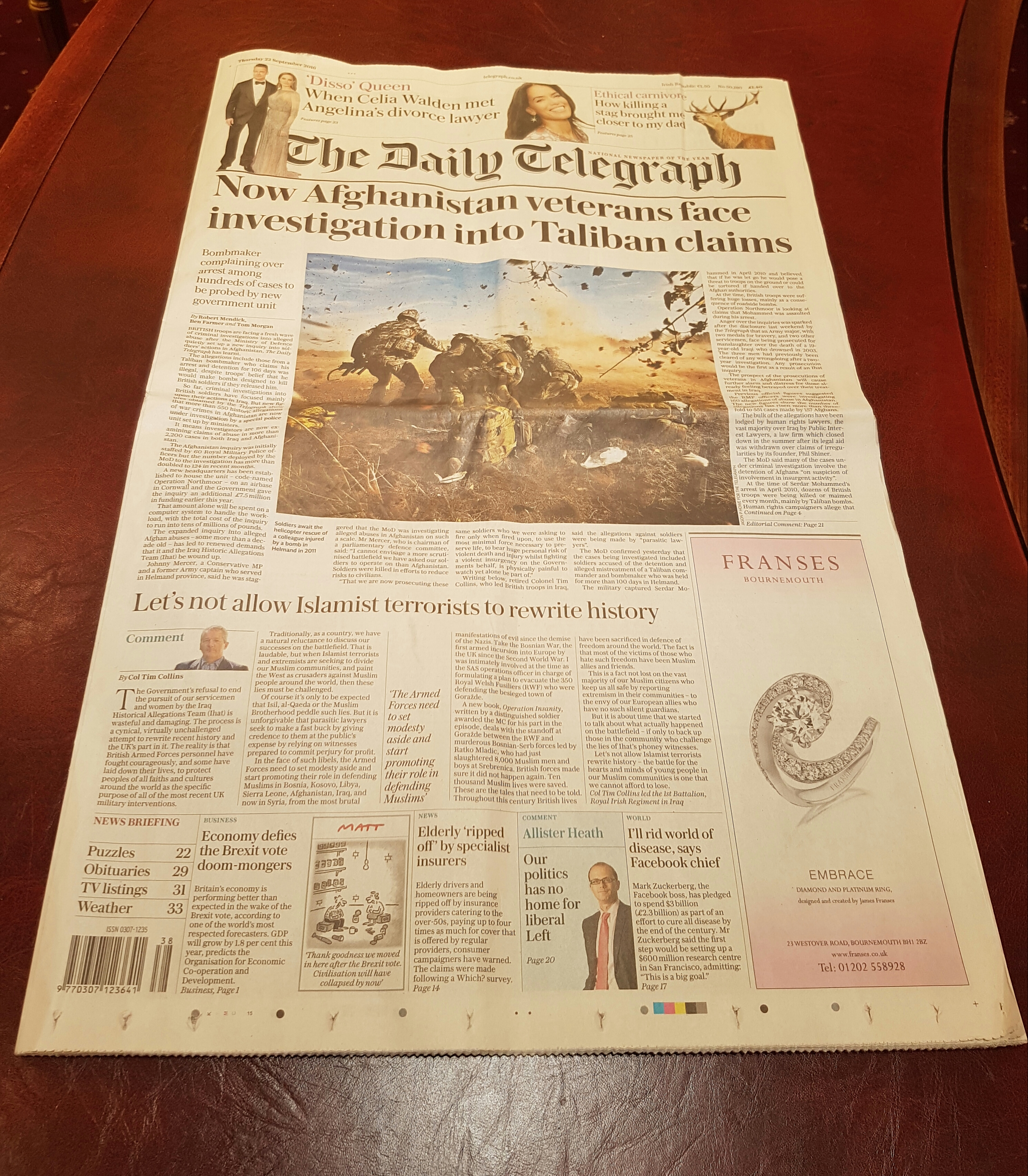 September 2016 - The Daily Telegraph
