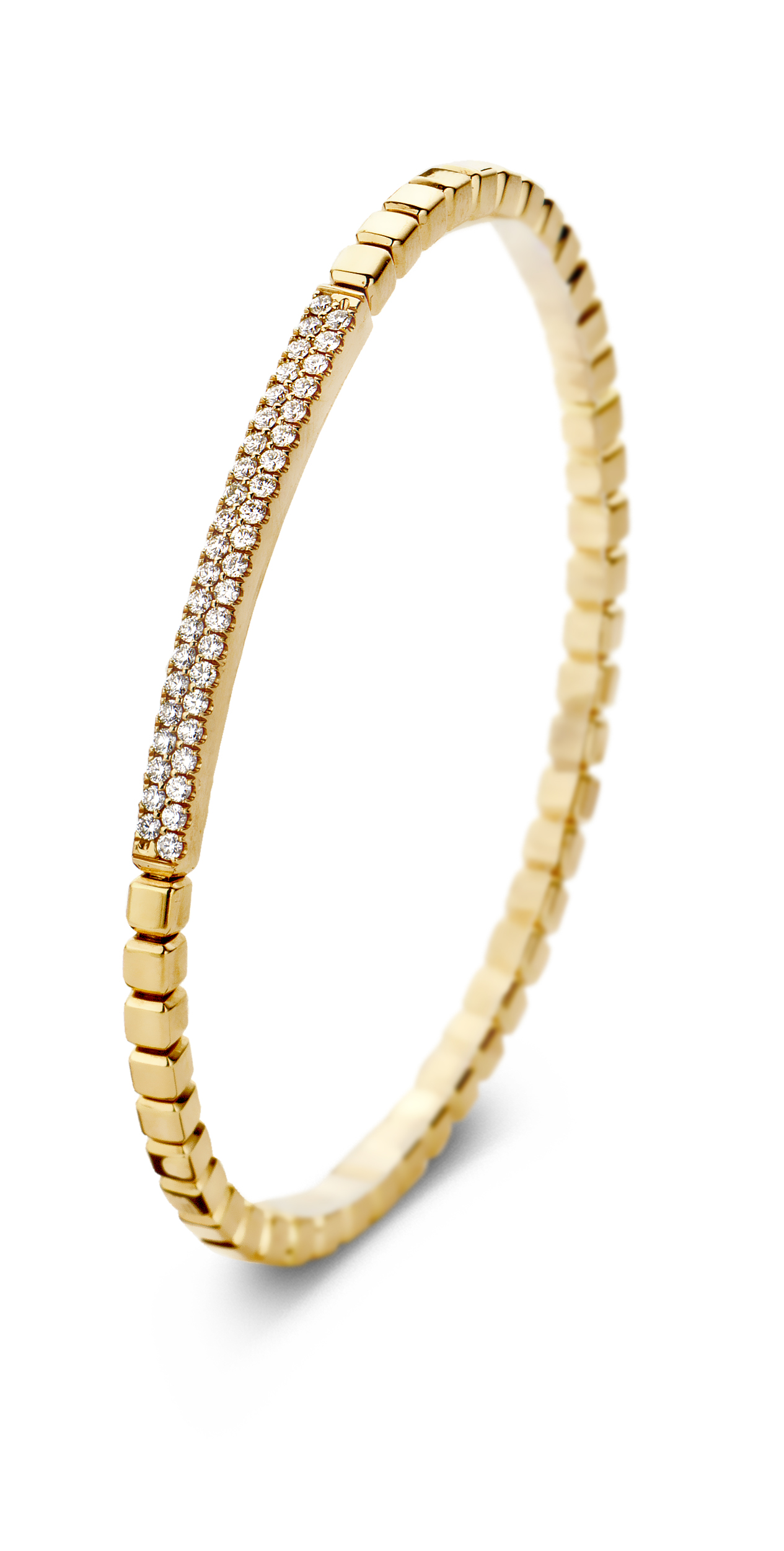 18ct Yellow Gold and Diamond Bracelet