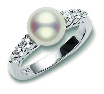 18ct White Gold Morning Dew Ring - 07-08-003