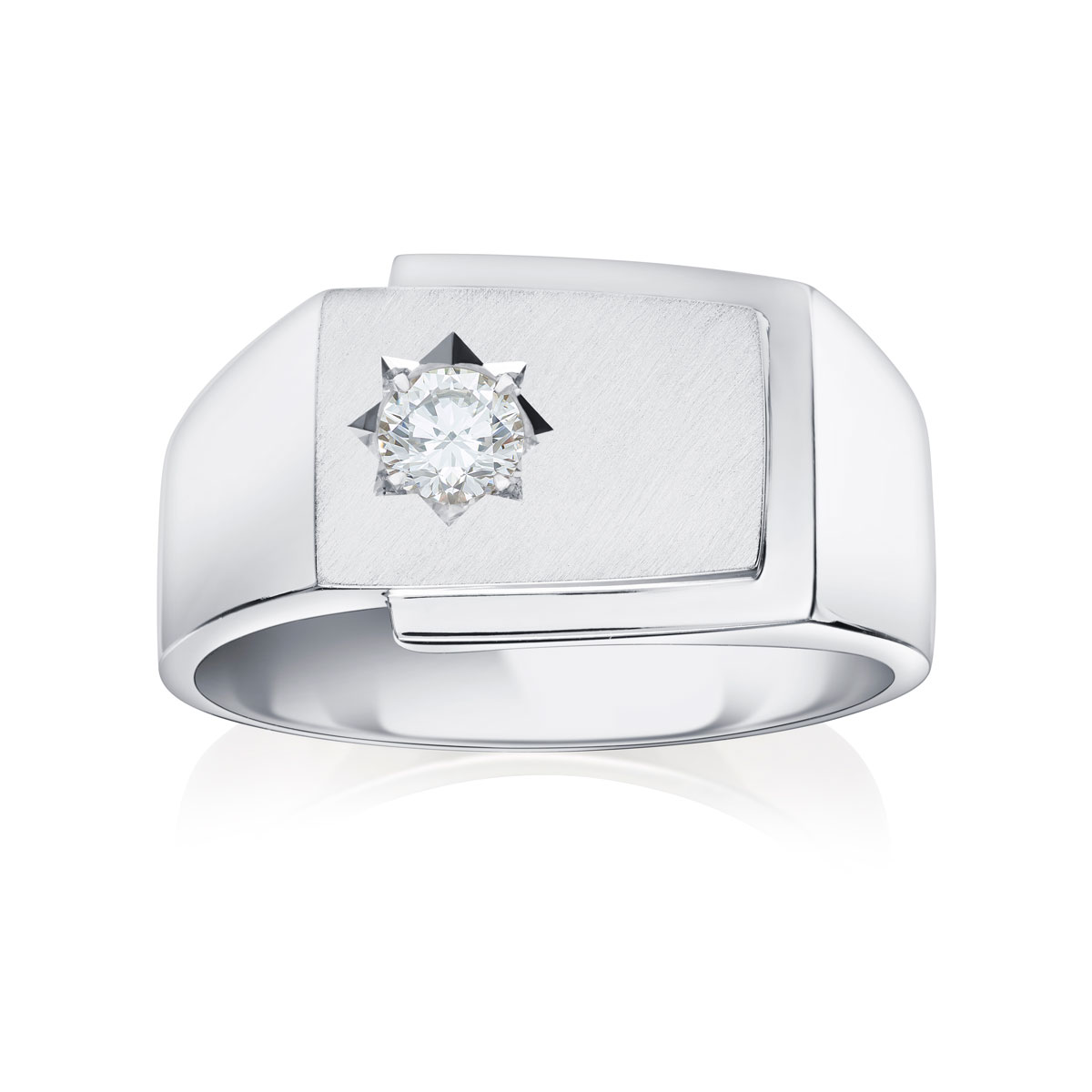 18ct & Diamond Signet Ring