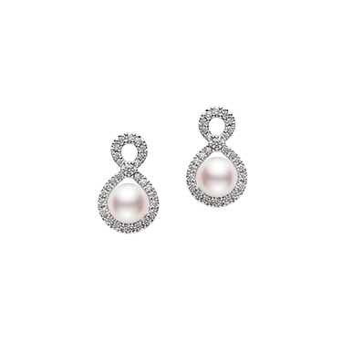 18ct White Gold Ruyi Earrings