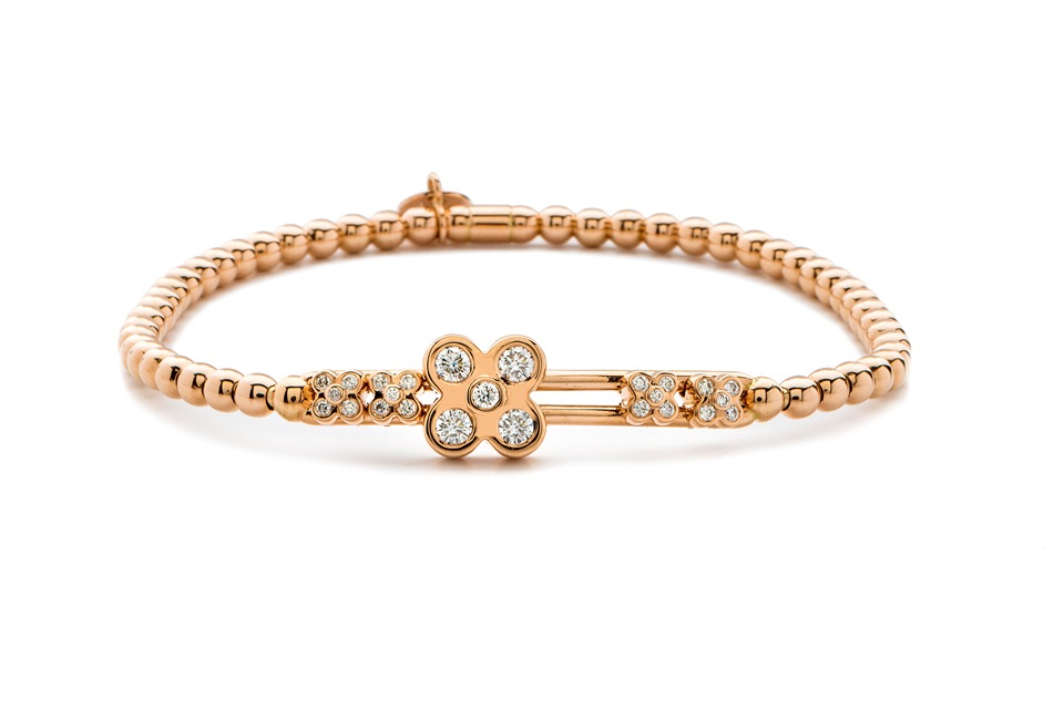 18ct Rose Gold and Diamond Bracelet