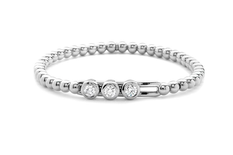 18ct White Gold and Diamond Bracelet  - WG DIA BLET