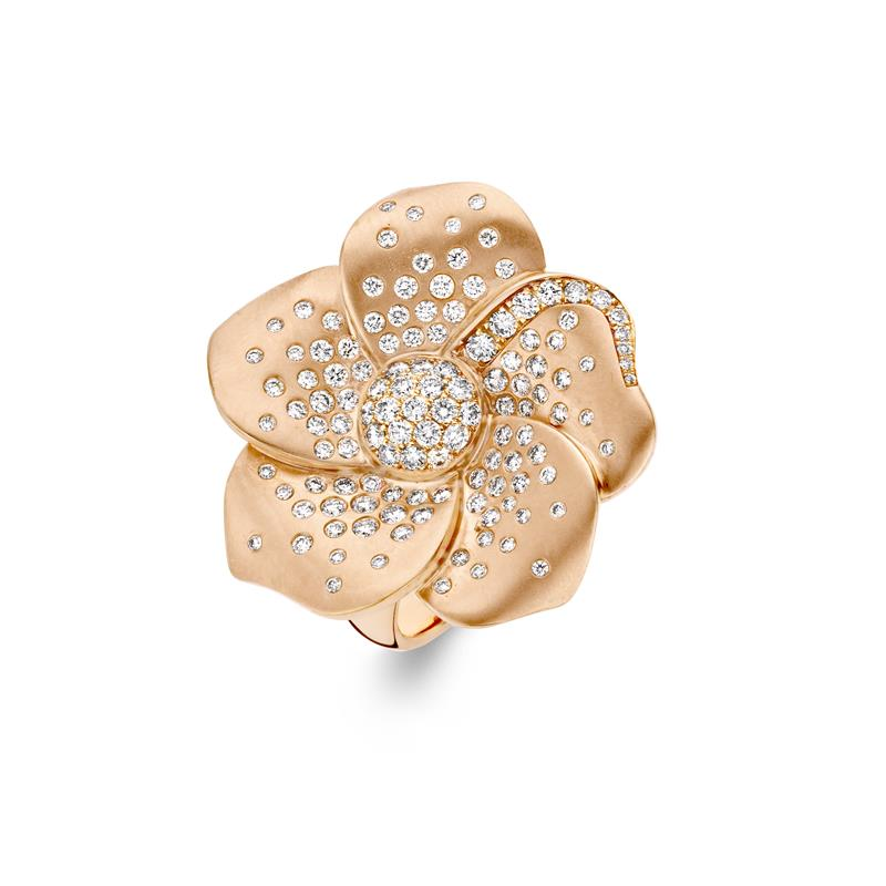 18ct Rose Gold Flower Ring  - FLOWER