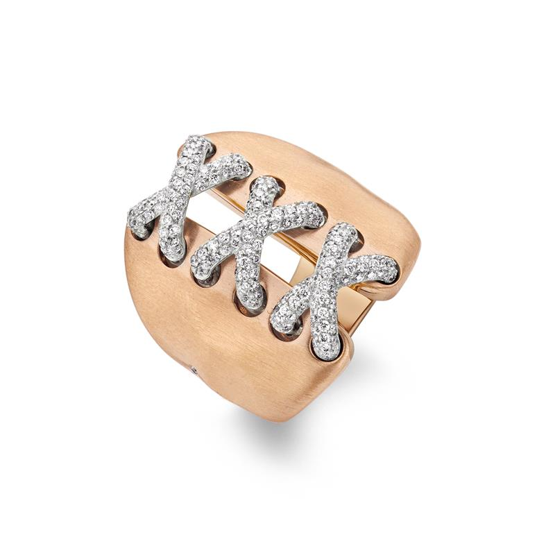 18ct Rose Gold and Diamond Corsage Ring  - CORSAGE