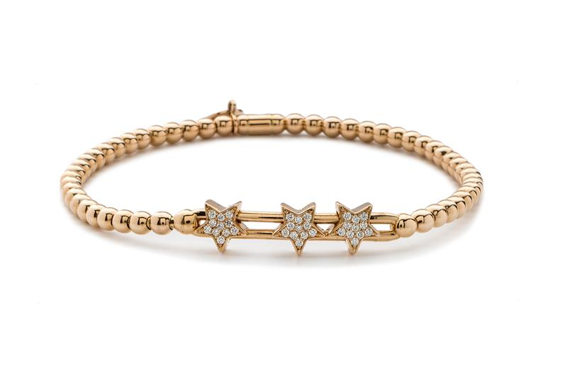 18ct Rose Gold and Diamond Bracelet  - ROSE DIA BLET
