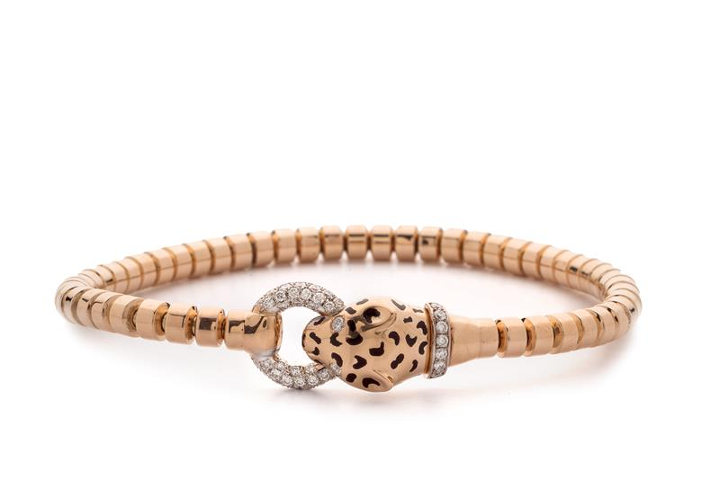 18ct Rose Gold and Diamond Bracelet  - PANTHER BLET