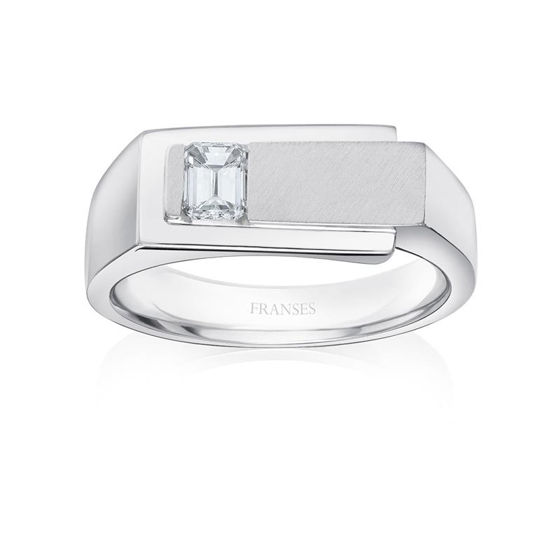Platinum & Diamond Signet Ring  - 01-01-101