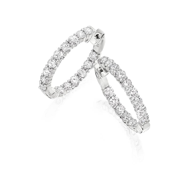 Diamond Hoop Earrings  - 04-02-224