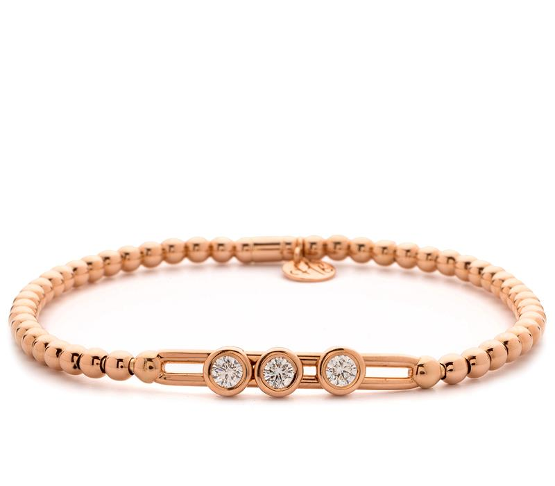 18ct Rose Gold and Diamond Bracelet  - RG DIAM BLET