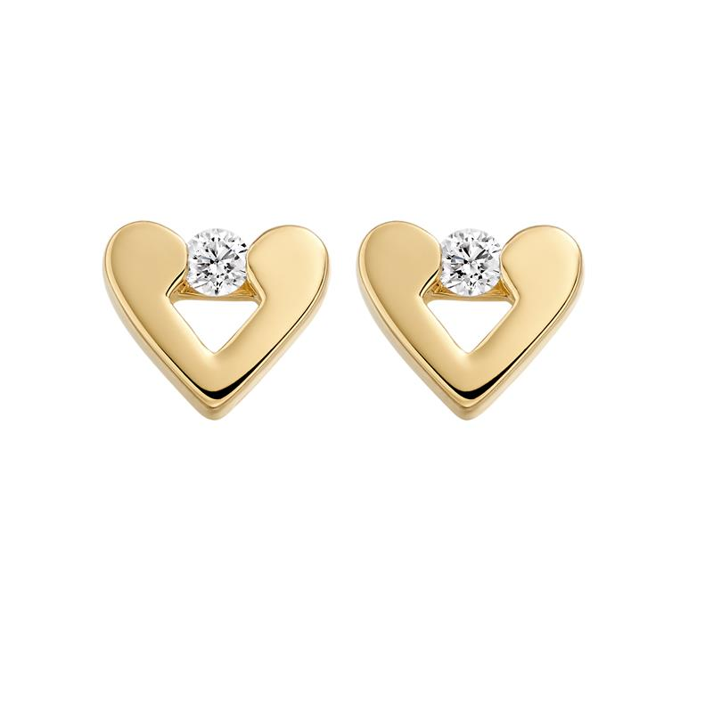 Diamond Heart Earrings  - 04-02-168