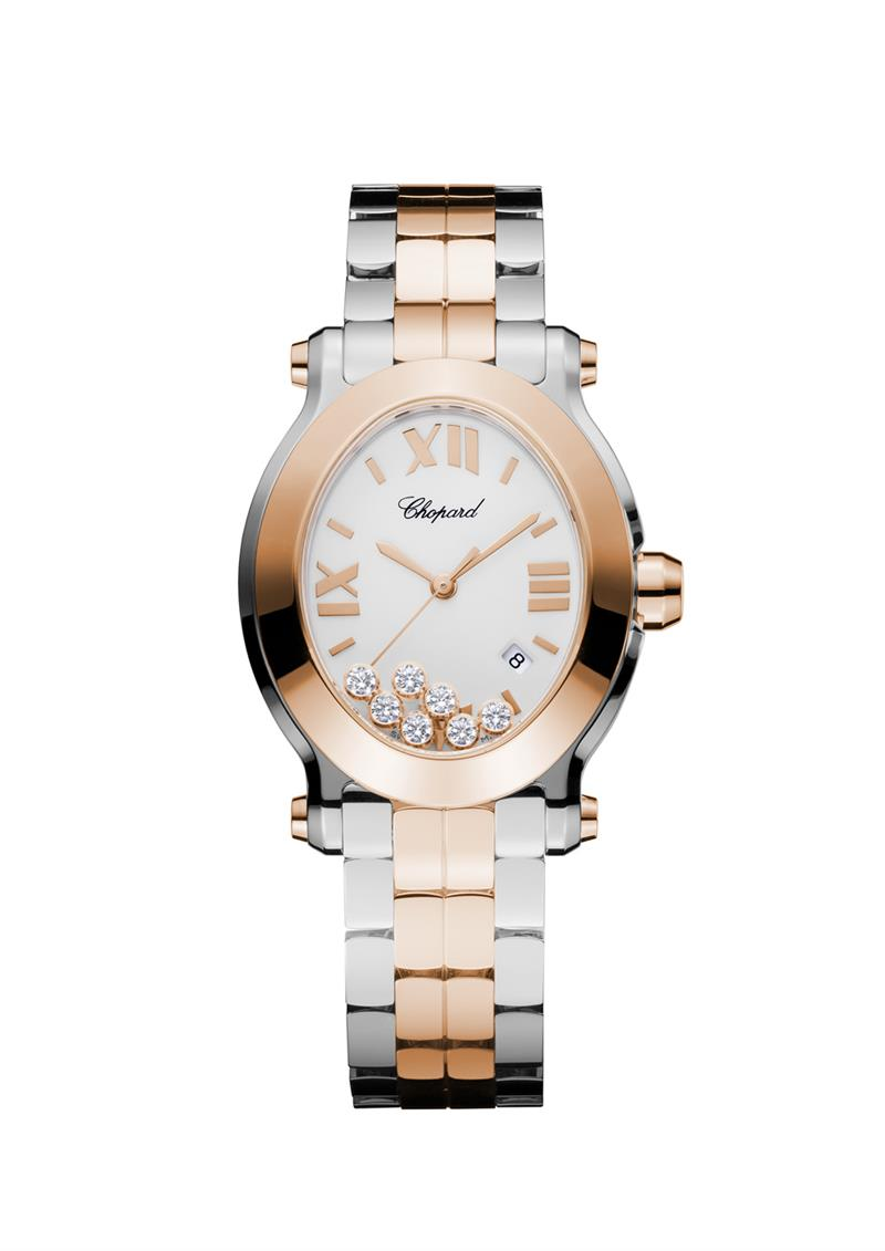 Happy Sport oval watch  - Happy Sport oval rg ss